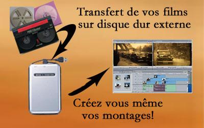 transfert film sur disque dur